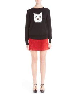 Wool Blend Intarsia Sweater