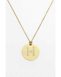 'tiny Treasures' Diamond Initial Disc Pendant Necklace