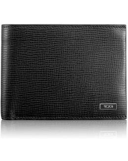 'monaco' Global Double Billfold Leather Wallet