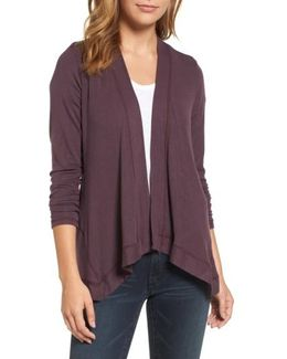 Exposed Topstitch Cardigan