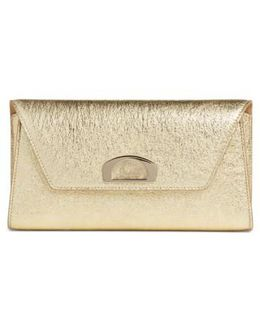 Vero Dodat Metallic Calfskin Clutch - Metallic