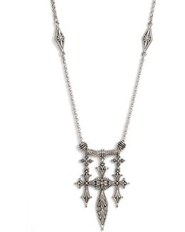 'penelope' Triple Cross Pendant Necklace
