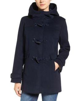 Roslyn Waterproof Lambswool Blend Hooded Coat