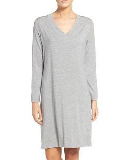 Long Sleeve Knit Nightgown