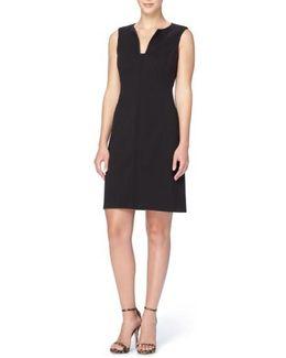'linden' Split Neck Sheath Dress
