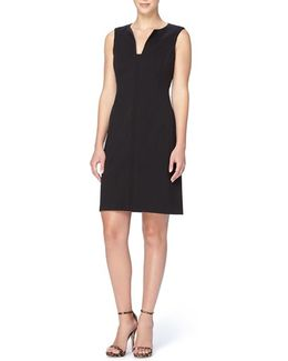 'linden' Split Neck Sheath Dress