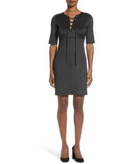'shaw' Lace-up Sheath Dress