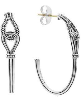 'caviar' Twist Hoop Earrings