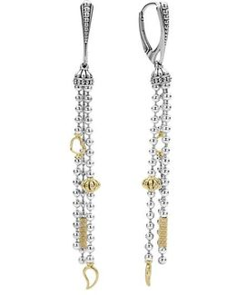 'caviar Icon' Linear Drop Earrings