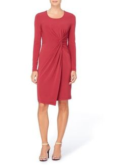 'adele' Twist Front Sheath Dress