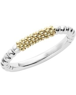 'caviar Icon' Stacking Ring