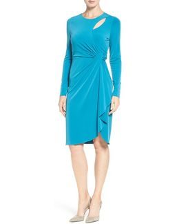 'gordon' Faux Wrap Sheath Dress