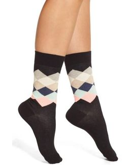 'faded Diamond' Crew Socks