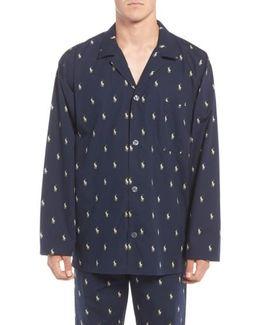 'polo Player' Embroidered Pajama Top