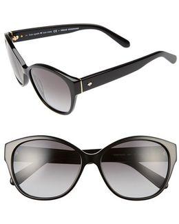 'kiersten' 56mm Cat Eye Sunglasses
