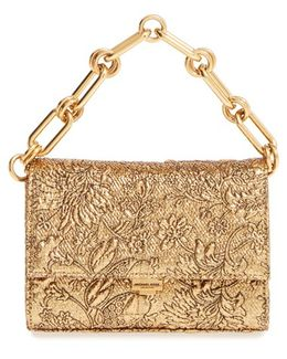 'small Yasmeen' Metallic Clutch - Metallic