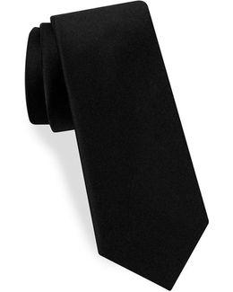 Narrow Woven Silk Tie