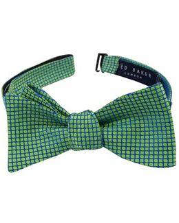 Geometric Silk Bow Tie