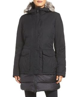 Tuvu Water Repellent Parka With Faux Fur Trim