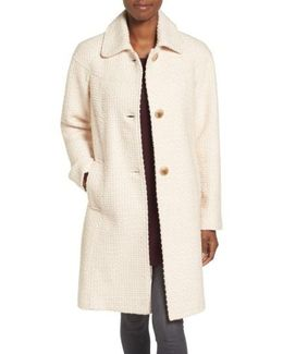 Basket Weave Three Quarter Coat