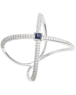 Diamond & Gem Crossover Ring (nordstrom Exclusive)