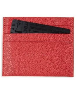 'le Foulonne' Pebbled Leather Card Holder
