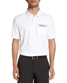 'jkg' Trim Fit Solid Golf Polo