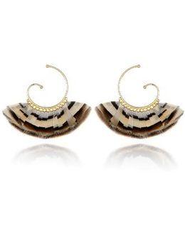 'buzios' Feather Earrings