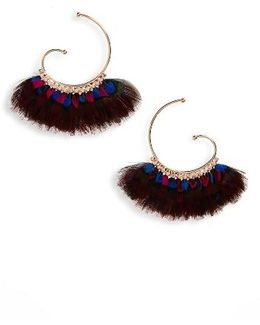 'buzios' Feather Earrings