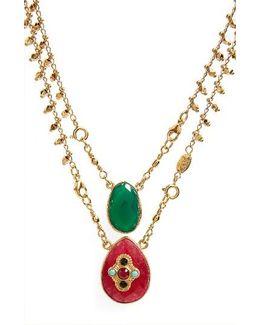 Scapulaire Convertible Semiprecious Stone Necklace