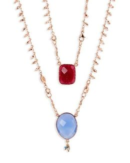 Scapulaire Convertible Semiprecious Stone Necklace