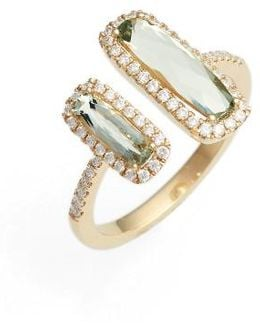 Iris Diamond & Semiprecious Stone Open Ring (nordstrom Exclusive)