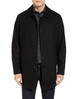 Reversible Wool Blend Overcoat