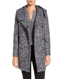 Asymetrical Tweed Duffle Coat