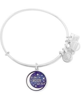 'to The Moon And Back' Adjustable Wire Bangle