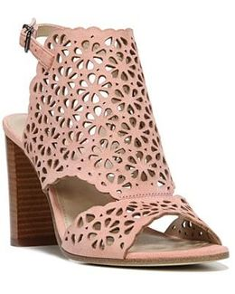 Garnet Perforated Ankle Strap Sandal