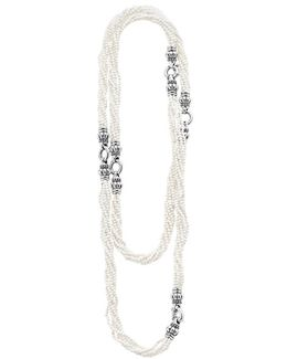 'black & White Caviar' Agate Multistrand Necklace