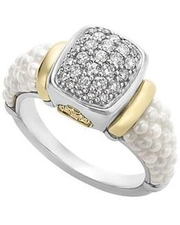 'caviar' Diamond Ring