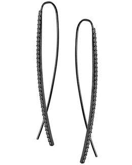 'reckless' Upside Down Diamond Hoop Earrings
