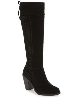 Ciarah Knee High Rear Lace Boots