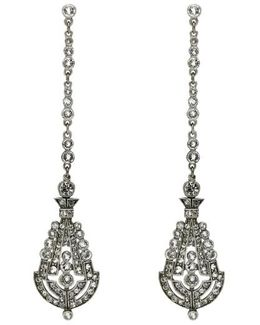 'deco' Crystal Drop Earrings