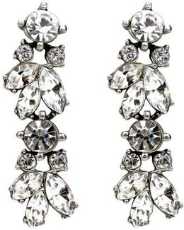 'crystal Vine' Drop Earrings