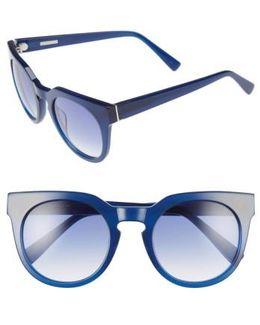 'stella' 51mm Round Sunglasses - Ink