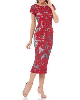 Soutache Lace Midi Dress