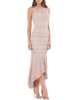 Lace High/low Gown