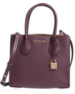 Mercer Leather Crossbody Bag - Purple