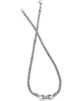 'derby' Diamond Buckle Rope Necklace (online Only)
