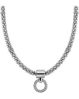 'enso' Diamond Pendant Necklace