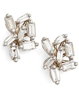 'fireworks' Diamond Cluster Stud Earrings