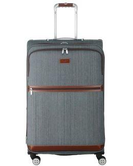 'large Falconwood Grey' Four Wheel Suitcase